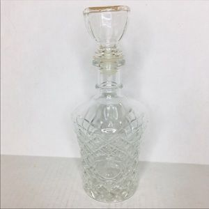 Vintage faceted glass liquor wine decanter